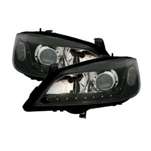 LED Strålkastare set för Opel Astra G i svart