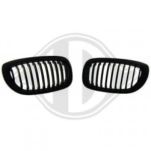 Frontgrill njurar svart BMW E46 Coupe Cab 99-03
