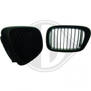 Frontgrill njurar svart BMW E39