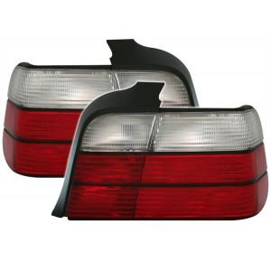 Baklysen röd vit BMW E36 Coupe Cab