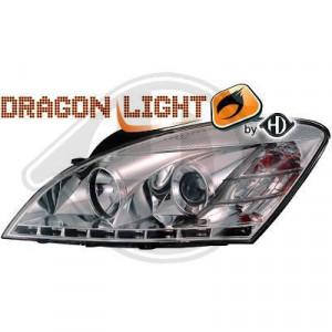 LED Framlysen Krom Kia Ceed 06-09