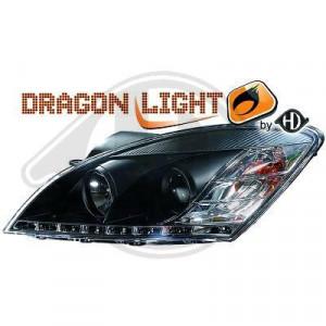 LED Framlysen Svart Kia Ceed 06-09
